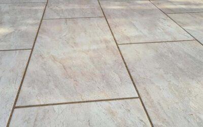 Bradstone Romeli Porcelain slab patio completed in Maldon