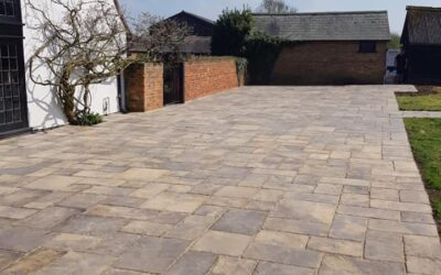 One of many patio installations